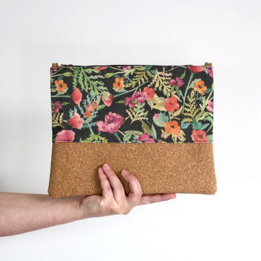bolso de mano estampado floral
