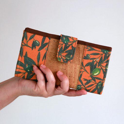 billetera ecológica de corcho