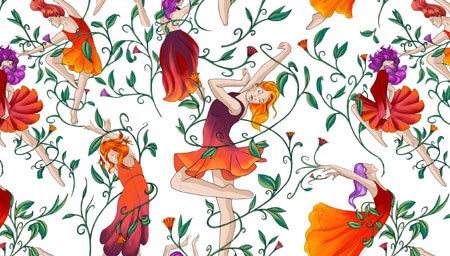 Estampado arte «Hadas bailarinas»