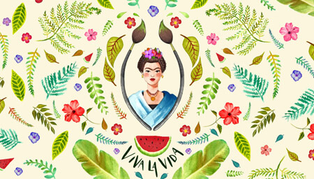 Estampado Frida Kahlo