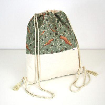 mochila de tela mujer estampada