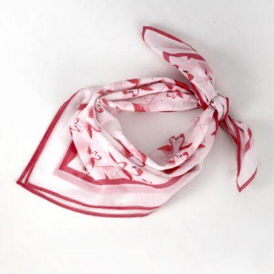 pañuelo para la cabeza con estampado de flamencos