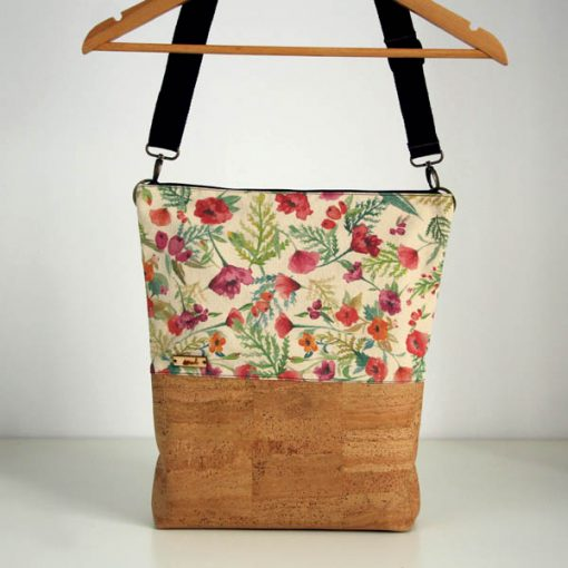 bolso mochila floral